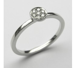 Palladium Ring mit 7 Brillanten