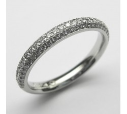 Platin Memoire-Ring mit 82 Brillanten