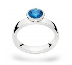 "Silberring ""Poseidon-See"" mit London Blue Topas"