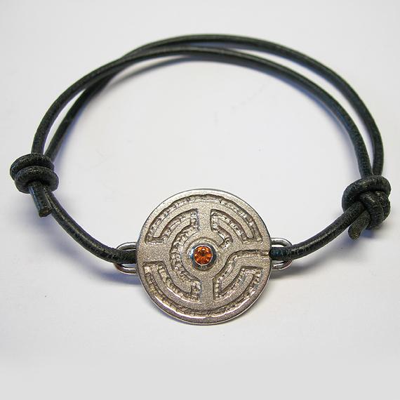 Rosengarten-Armband aus Silber mit Citrin (facettiert)