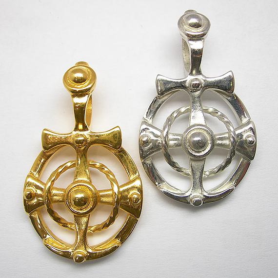 """Anhänger """"Mytos"""" aus Silber und gelb-vergoldet"""