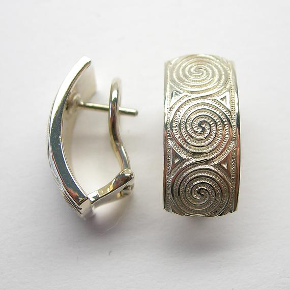 Nibelungen-Ohrclip aus Silber