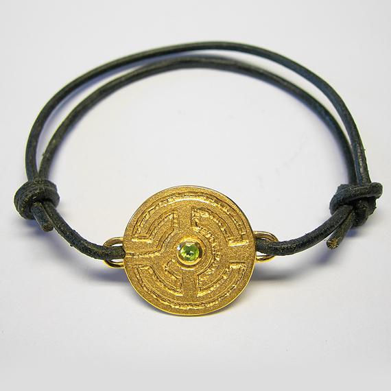 Rosengarten-Armband aus Silber gelb-vergoldet mit Peridot (facettiert)
