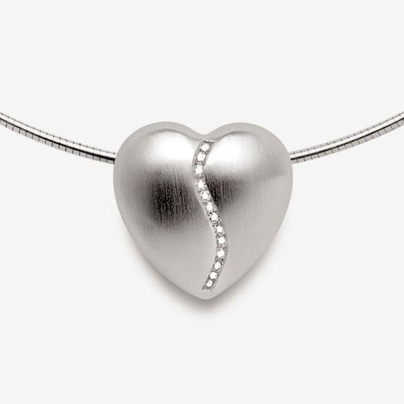 Anhänger aus Silber Herzdesign mit Brillanten