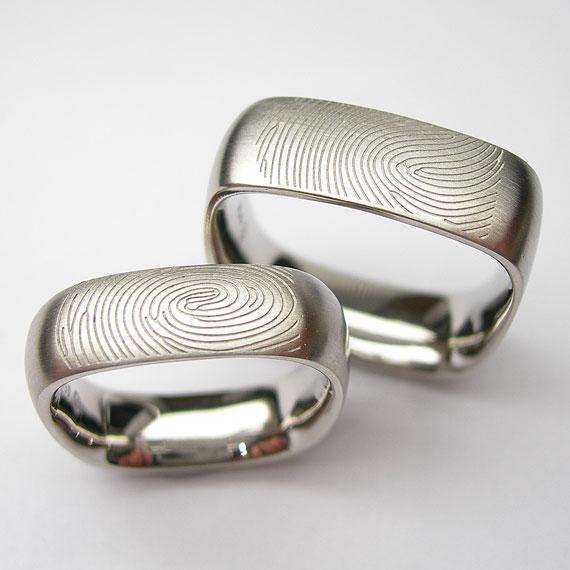 Individuelle Trauringe Fingerprint AURUM Goldschmiede . Worms