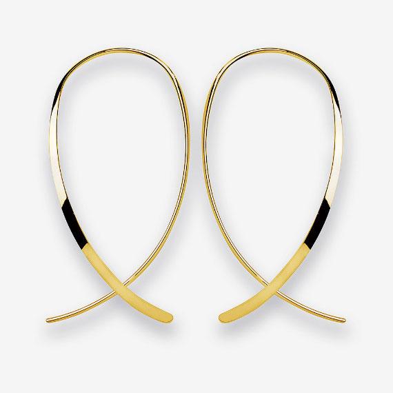 Ohrhänger aus Silber gelbvergoldet