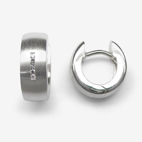 Ohrcreolen aus Silber mit Brillanten