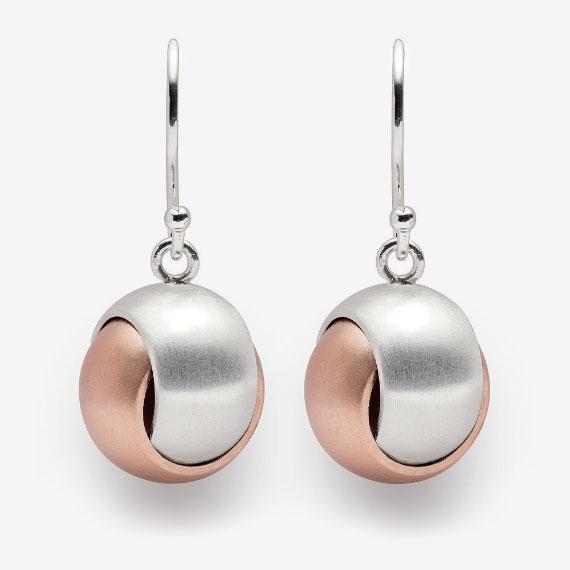 Ohrhänger aus Silber rosé-teilvergoldet