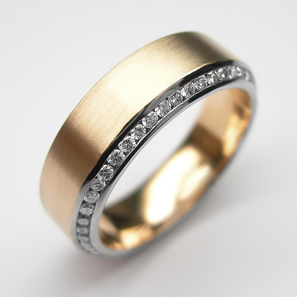 Memoire-Ring in Roségold/Graugold