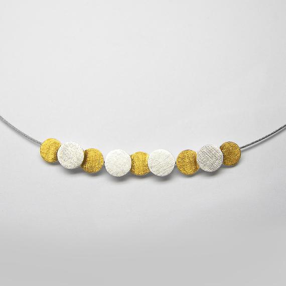 Silberkette / Schmuckkette gelb-teilvergoldet