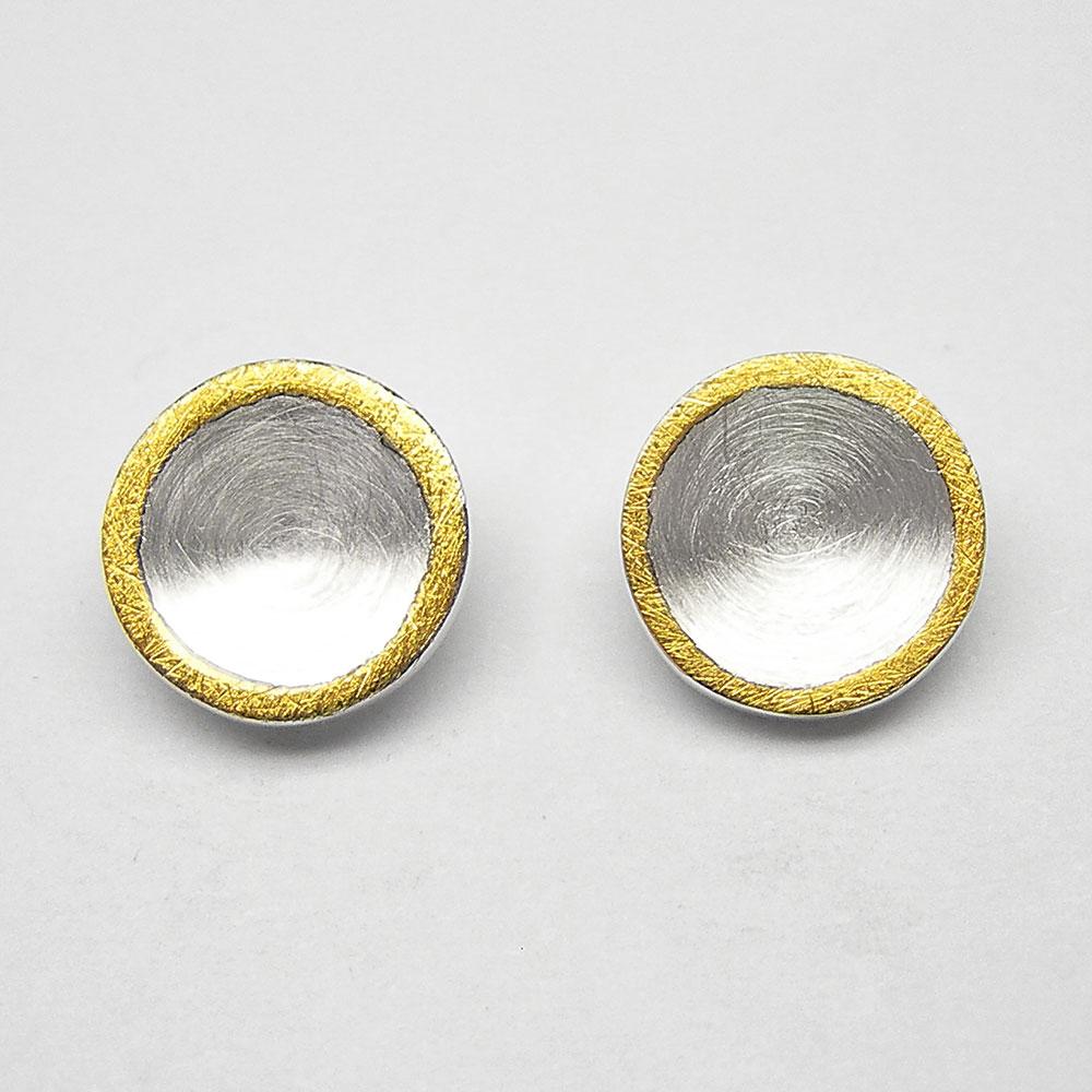 Ohrstecker teilvergoldet aus Silber