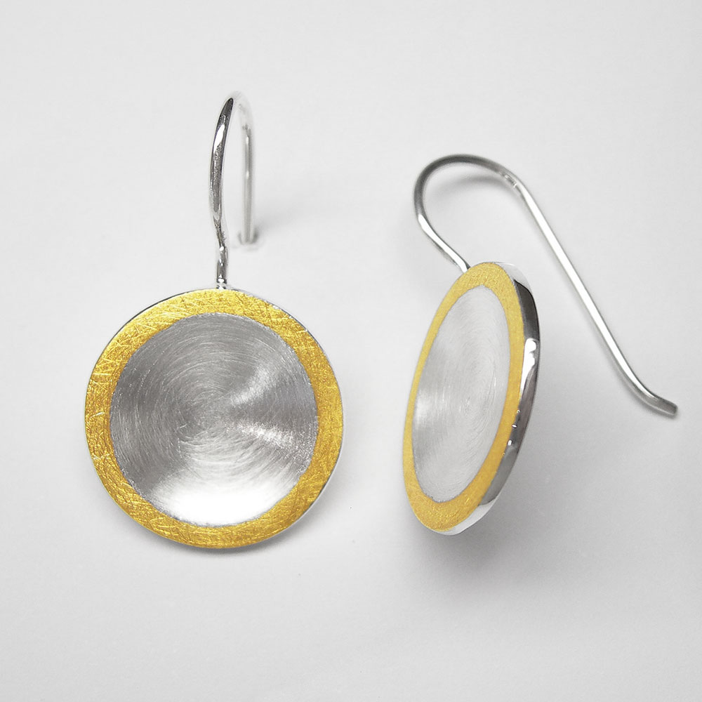 Ohrhänger teilvergoldet aus Silber