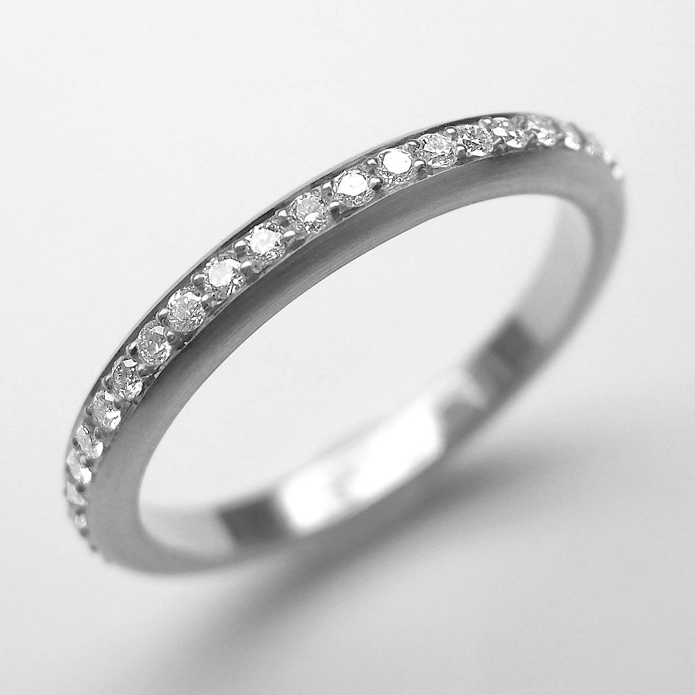 Platin Ring mit 25 Brillanten