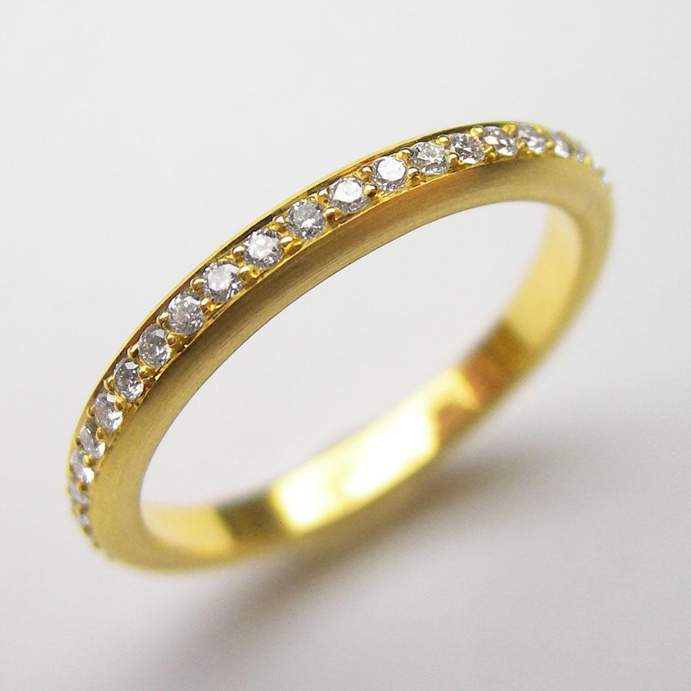 Gelbgold Ring mit 25 Brillanten
