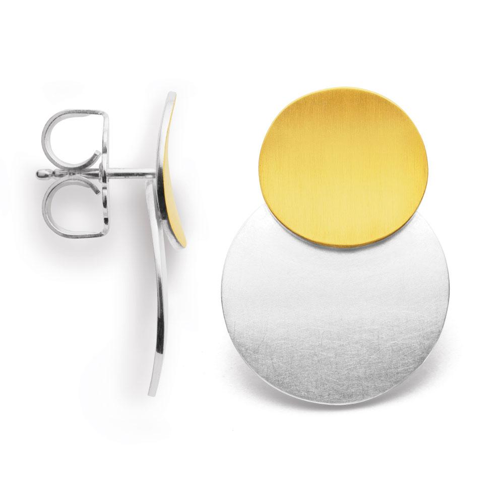 Ohrstecker aus Silber, teilvergoldet