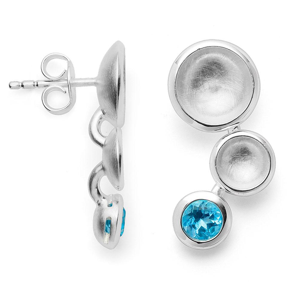 Ohrstecker aus Silber mit Blautopas
