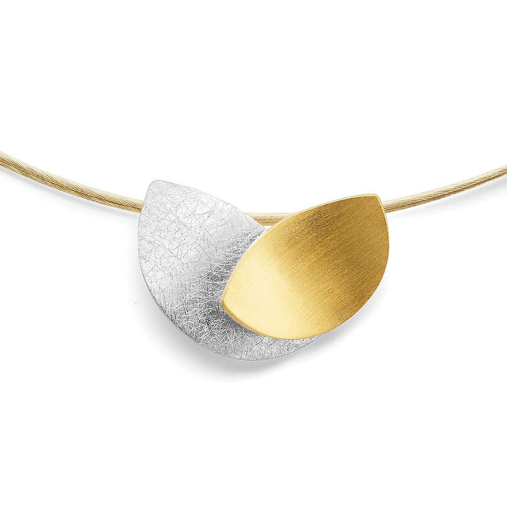 Silberanhänger teilvergoldet