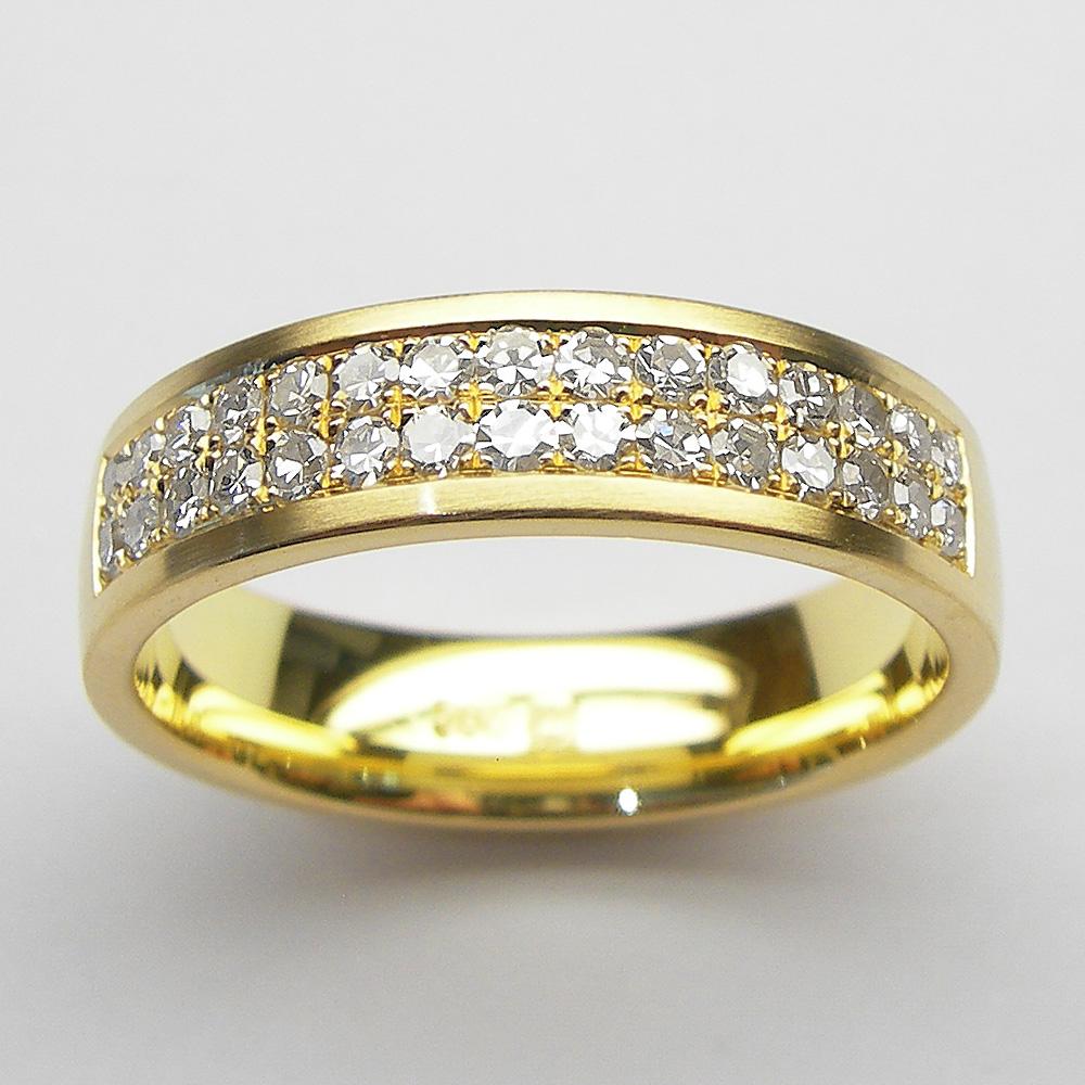 Gelbgold Ring mit Brillanten